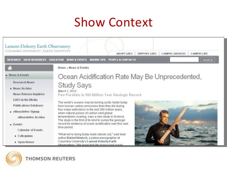 Show ContextIt may take decades before ocean acidification's effect onmarine life shows itself. Until then, the past is a ...