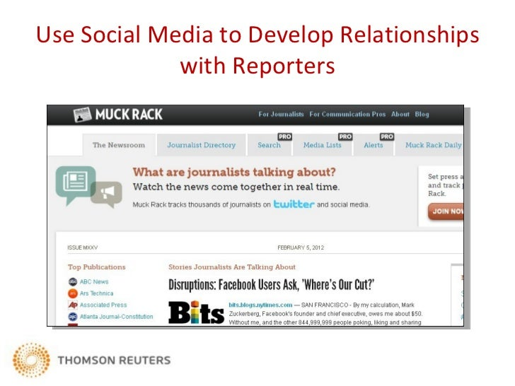 How Sources Develop Relationships with     Reporters – and Vice Versa
