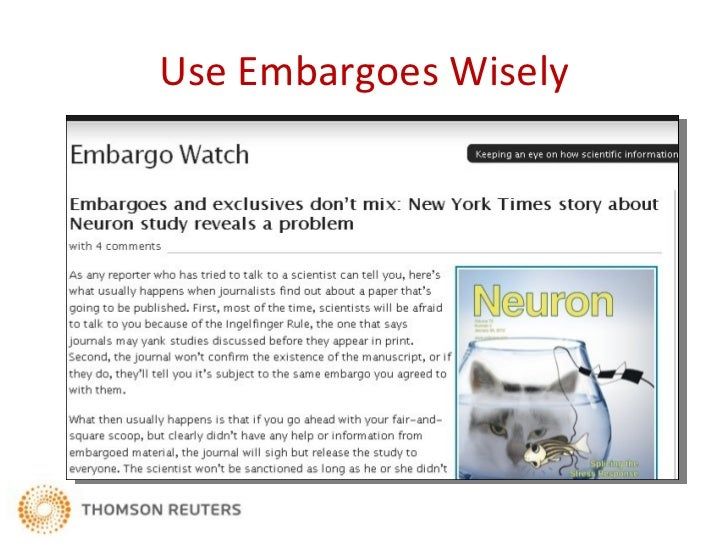 Use Embargoes Wisely