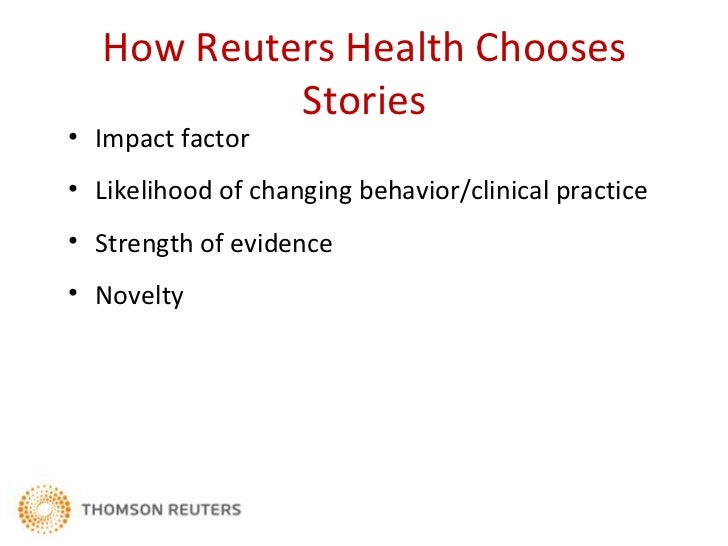How Reuters Health Covers Stories