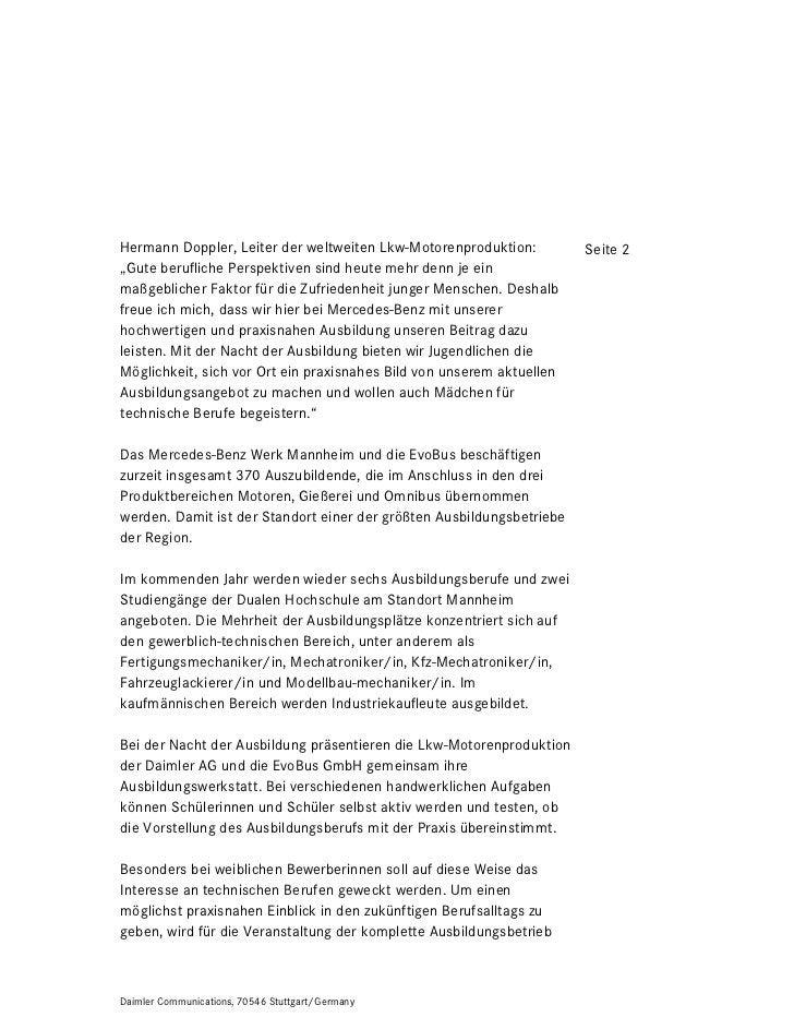 """Hermann Doppler, Leiter der weltweiten Lkw-Motorenproduktion:          Seite 2""""Gute berufliche Perspektiven sind heute meh..."""