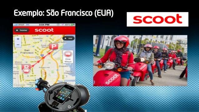 Na cidade é de scooter !