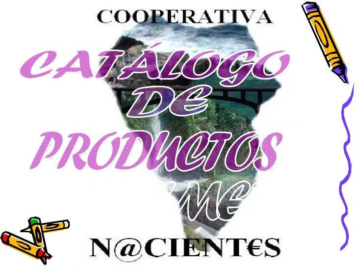 CATÁLOGO DE  PRODUCTOS PALMEROS