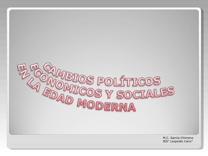 """M.C. García Chimeno IES"""" Leopoldo Cano"""""""
