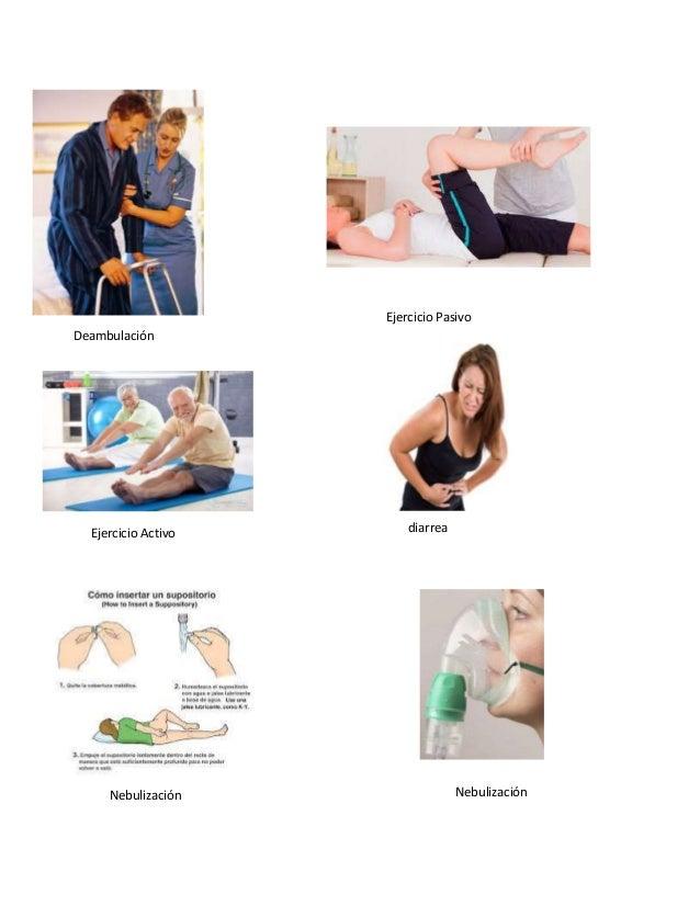 Deambulación Ejercicio Pasivo Ejercicio Activo diarrea NebulizaciónNebulización