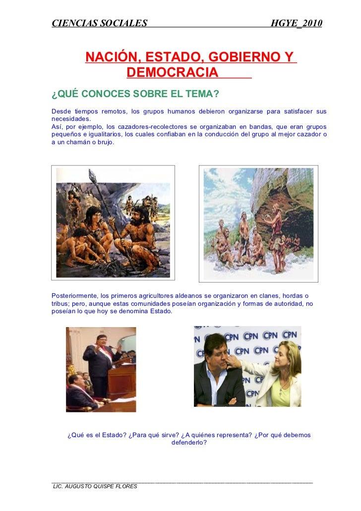 CIENCIAS SOCIALES                                                       HGYE_2010              NACIÓN, ESTADO, GOBIERNO Y ...