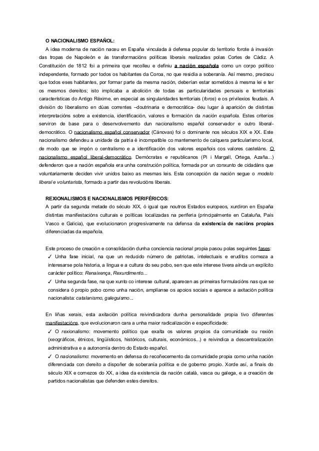 O NACIONALISMO ESPAÑOL: A idea moderna de nación naceu en España vinculada á defensa popular do territorio forote á invasi...