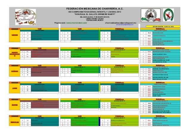 procoromariscal@hotmail.com    26 DE JULIO 1 JV AZCAPOZALCO  D.F 1 JV ESCUELA  CHARRA  HUGO  DE  LA  TORRE 1...