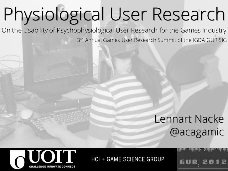 Physiological User ResearchOn the Usability of Psychophysiological User Research for the Games Industry                   ...