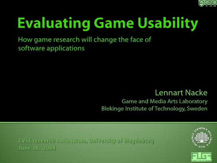 How game research will change the face of software applications