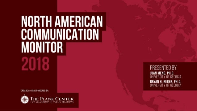 North American Communication Monitor - 2018 Tracking Trends