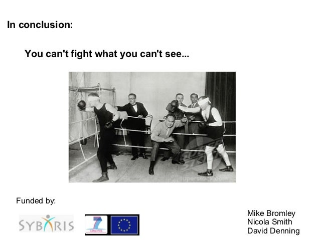 In conclusion:   You cant fight what you cant see... Funded by:                                           Mike Bromley    ...