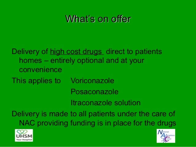 Who qualifies• Patients who are under the care of NAC• Patients who are on high cost drugs which are  paid for by NCG or P...