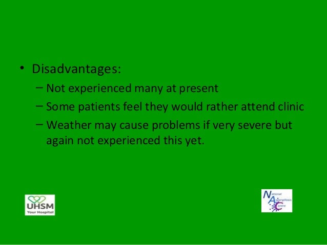 Points to remember• Patients are still very much under our care• Should contact us with any concerns at any  time• May req...