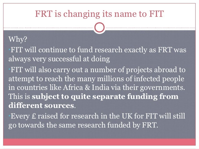 When will FIT start?Within weeks FIT will become active and NEW initiatives will be carried out under that new nameFrom ...