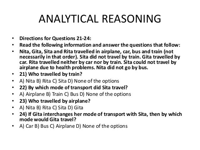 Nac questions analytical ability analytical reasoning ccuart Choice Image