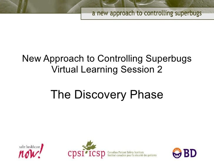 New Approach to Controlling Superbugs Virtual Learning Session 2 The Discovery Phase