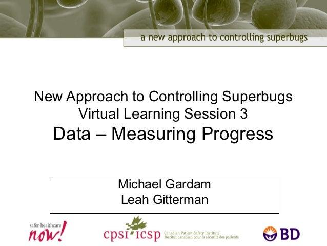 New Approach to Controlling Superbugs Virtual Learning Session 3 Data – Measuring Progress Michael Gardam Leah Gitterman