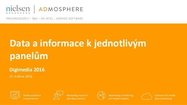 Data a informace k jednotlivým panelům Digimedia 2016 25. května 2016