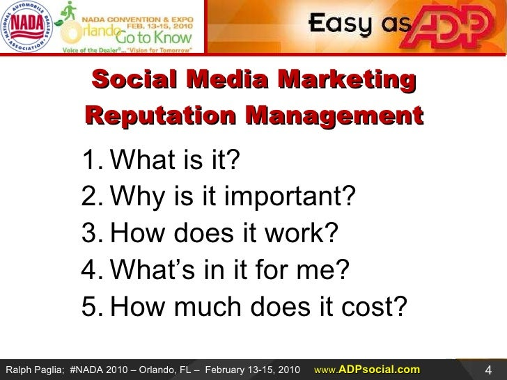 2010 Nada Automotive Social Media Marketing And Reputation