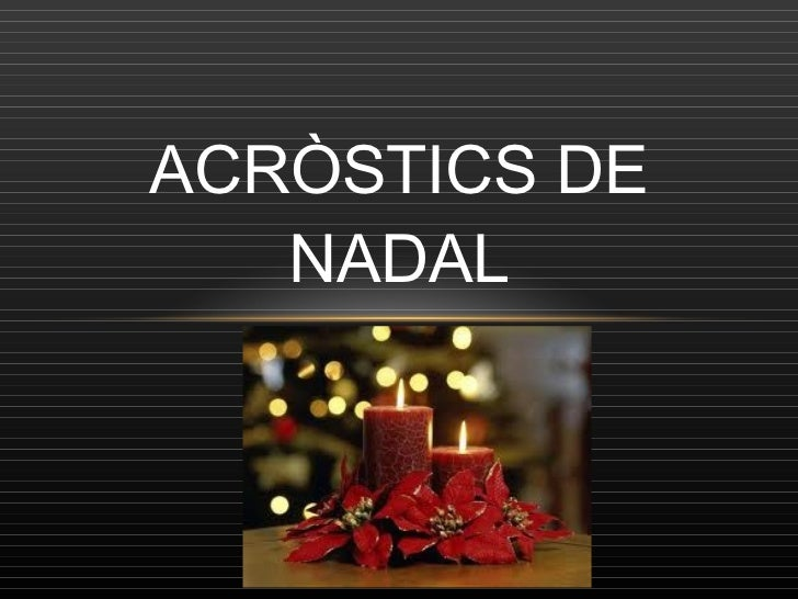 ACRÒSTICS DE NADAL