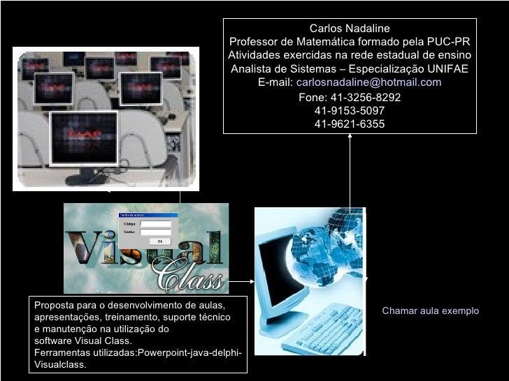 Carlos Nadaline Professor de Matemática formado pela PUC-PR Atividades exercidas na rede estadual de ensino Analista de Si...