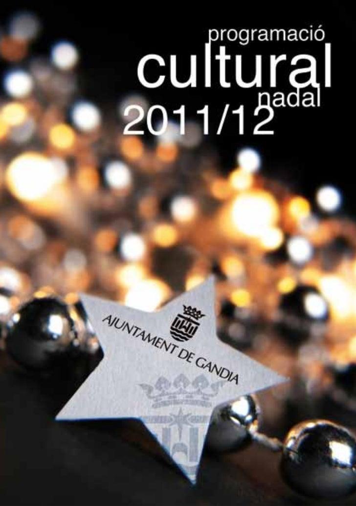 Programació Cultural de Nadal 2011