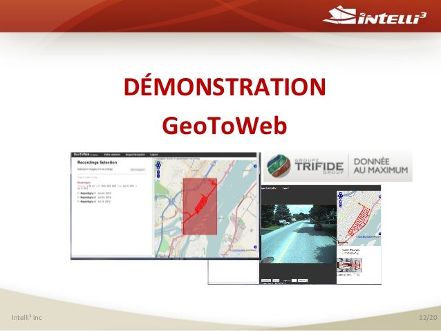 DÉMONSTRATION   GeoToWeb               Intelli3  inc    12/20
