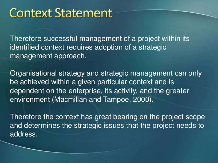 project scope statements for woody 2000 Woody 2000 case study table of contents table of figures   9 develop a  high-level project execution method statement   9  24 establishing the scope change management process.