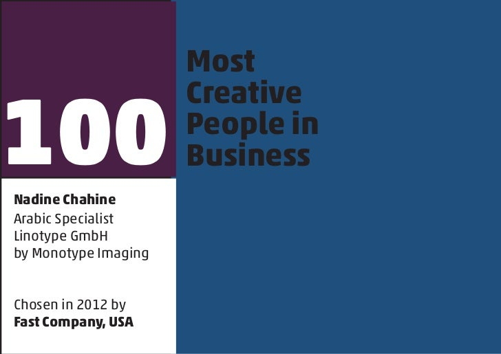 Most100                      Creative                      People in                      BusinessNadine ChahineArabic Spe...