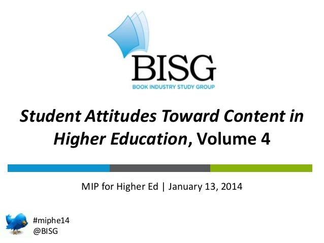 THE BOOK INDUSTRY BY THE NUMBERS in Student Attitudes Toward Content Higher Education, Volume 4 MIP for Higher Ed   Januar...