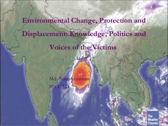 Environmental Change, Protection and Displacement: Knowledge, Politics and Voices of the Victims Md. Nadiruzzaman ICCCAD