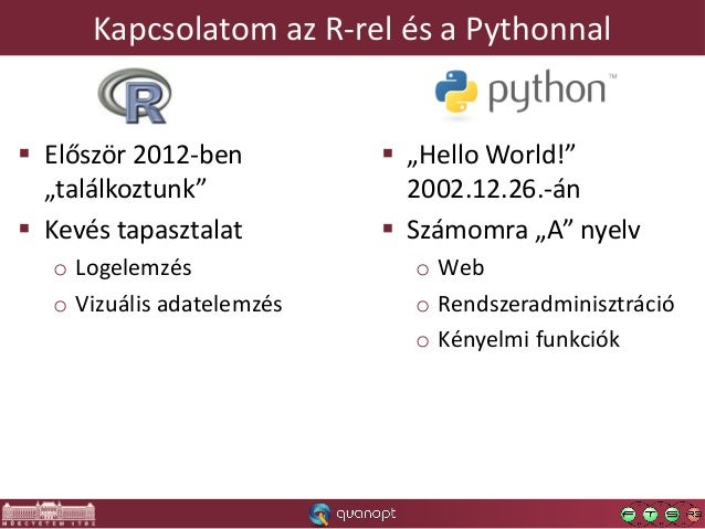 TekRedik a kígyó… avagy az R és Python összekapcsolásának lehetőségei Slide 2