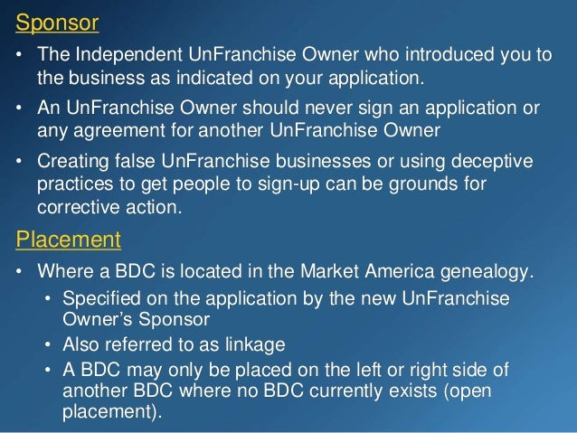 The UnFranchise® Business Presentation