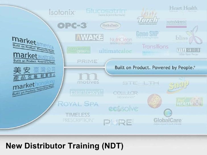 New Distributor Training (NDT)