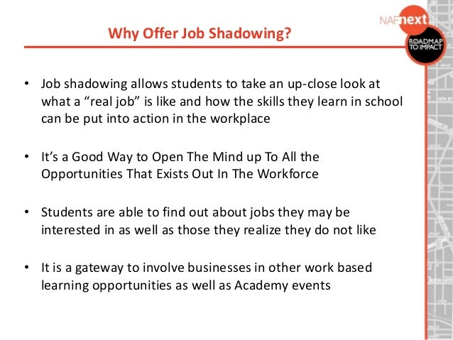 How To Write Up A Resume For A Job Shadow