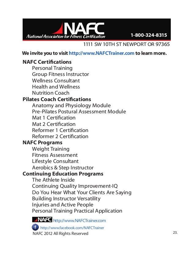 Nafc Certification Images Creative Certificate Design Inspiration