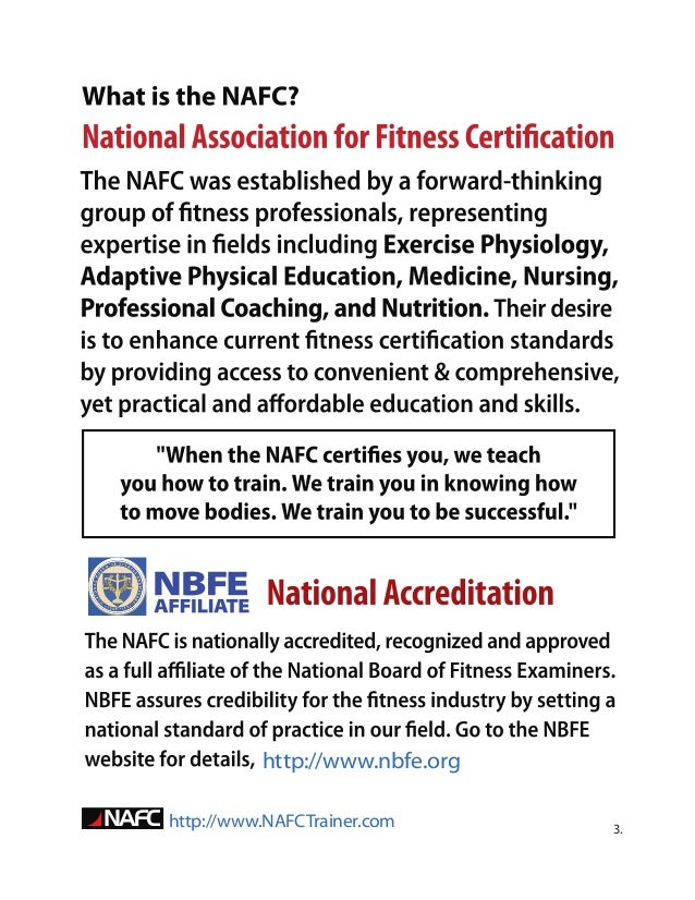 Guide To Becoming A Personal Trainer By The Nafc 0001 11 30