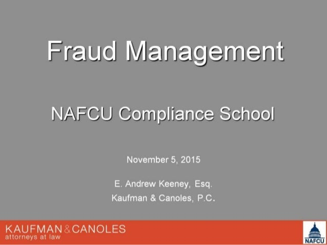 NAFCU - Fraud Management
