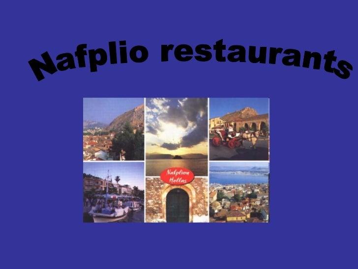 Nafplio restaurants