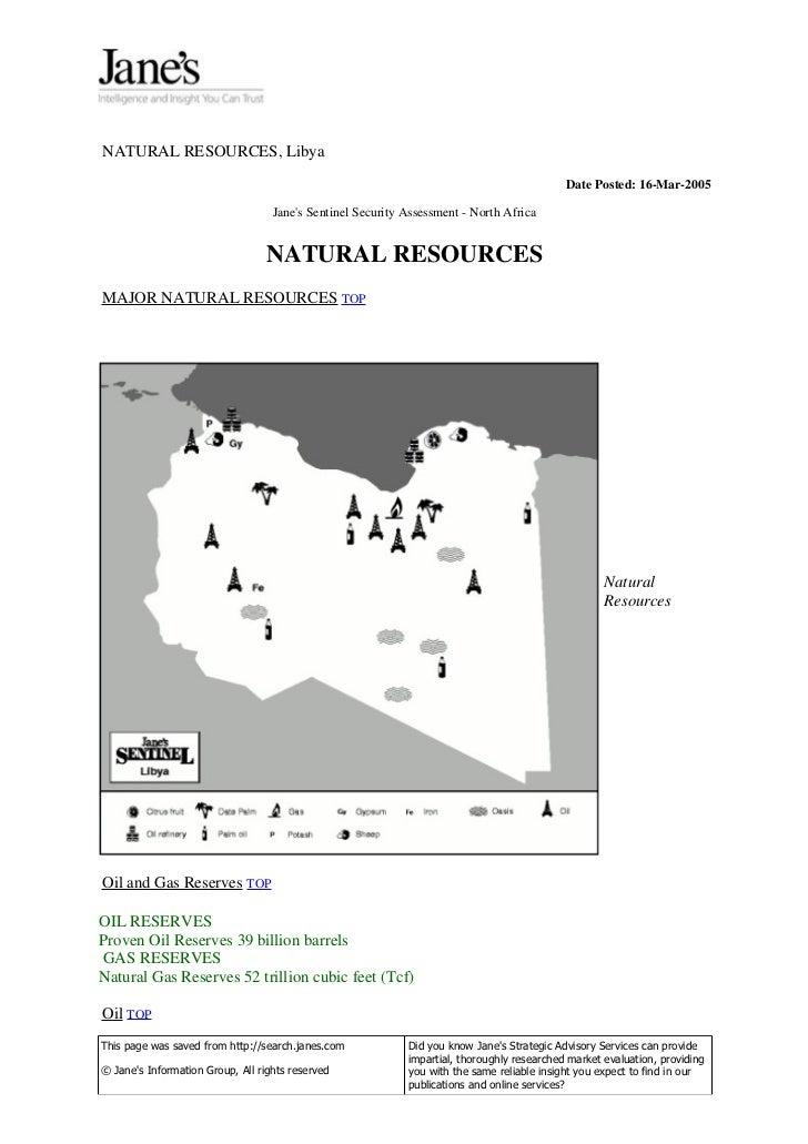 NATURAL RESOURCES, Libya                                                                                            Date P...