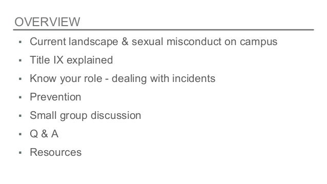What does sexual misconduct mean