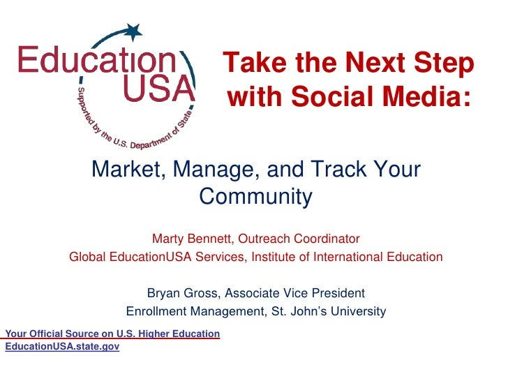 Take the Next Step                                                with Social Media:                  Market, Manage, and ...