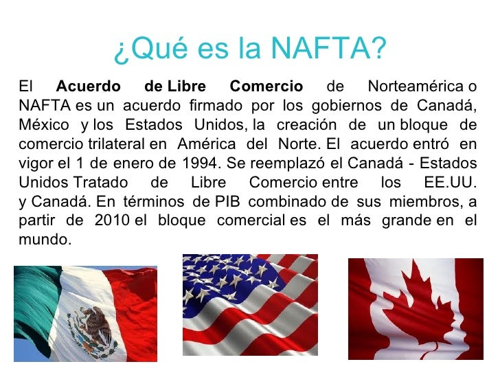 Nafta for Que es el comercio interior