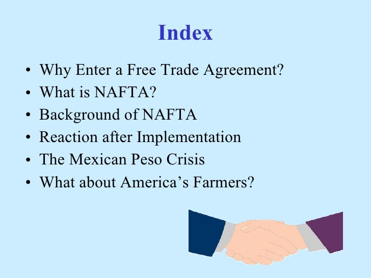 the background and impact of the north american free trade agreement The north american free trade agreement's history began in 1980 its purpose is to reduce trading costs, increase business investment and help north america be more competitive in the global marketplace.
