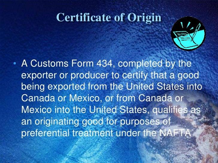 Nafta certificate of origin certificate of originbr yadclub Image collections