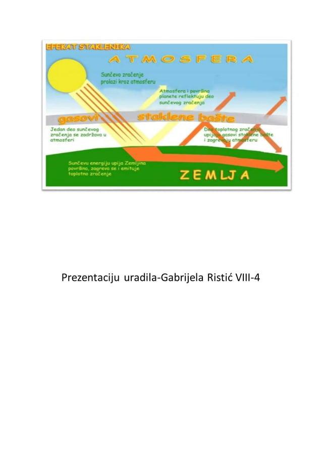 Prezentaciju uradila-Gabrijela Ristić VIII-4