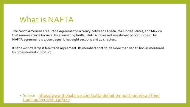 Nafta North American Free Trade Agreement October 2017