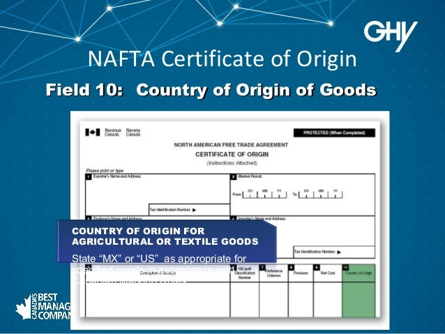 How To Fill Out A Nafta The Fundamentals