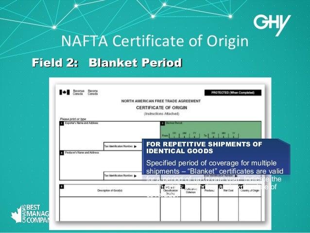 Free Standard Form » nafta form | Standard Form